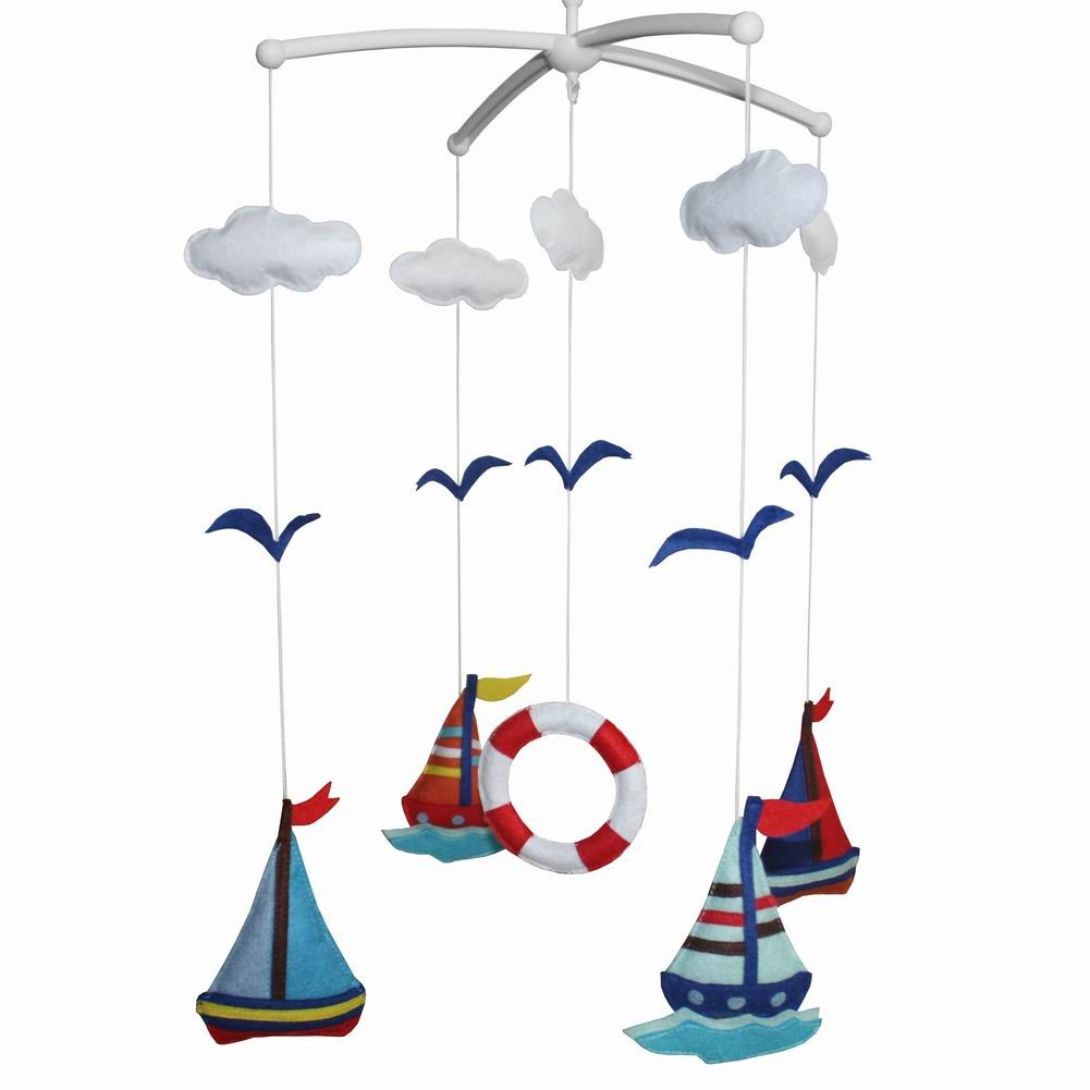 [Ocean World] Creative Crib Mobile Handmade Baby Crib Musical Mobile