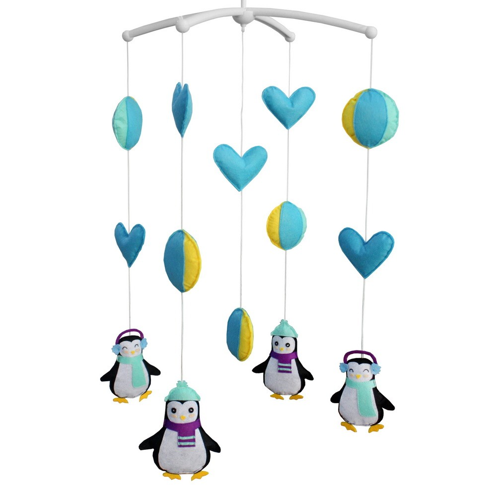 [Cute Penguins] Newborn Baby Musical Toys Crib Dreams Mobile
