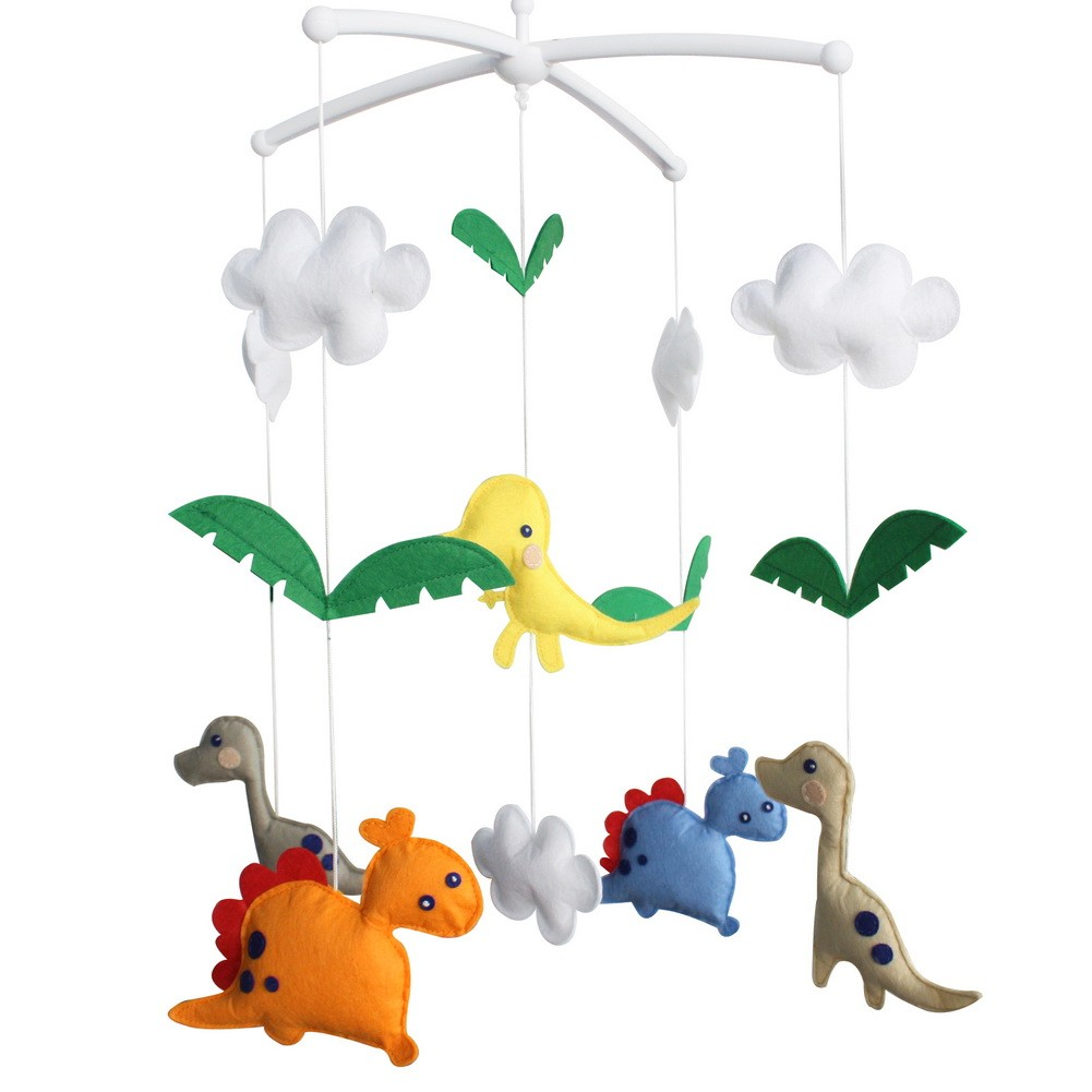 Crib Decoration Musical Mobile - [Dinosaur] Exquisite Hanging Toys