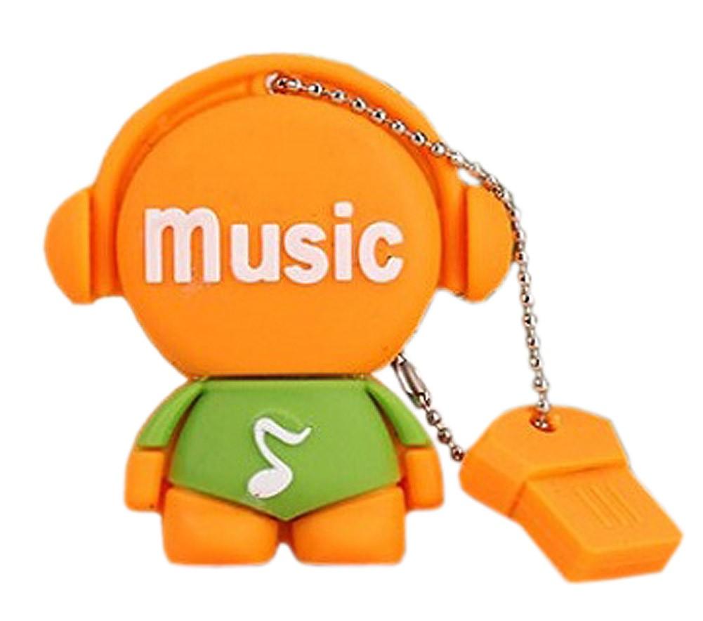 Orange Doll 32GB USB 2.0 Flash Drive High Speed USB Flash Disk / Memory Stick