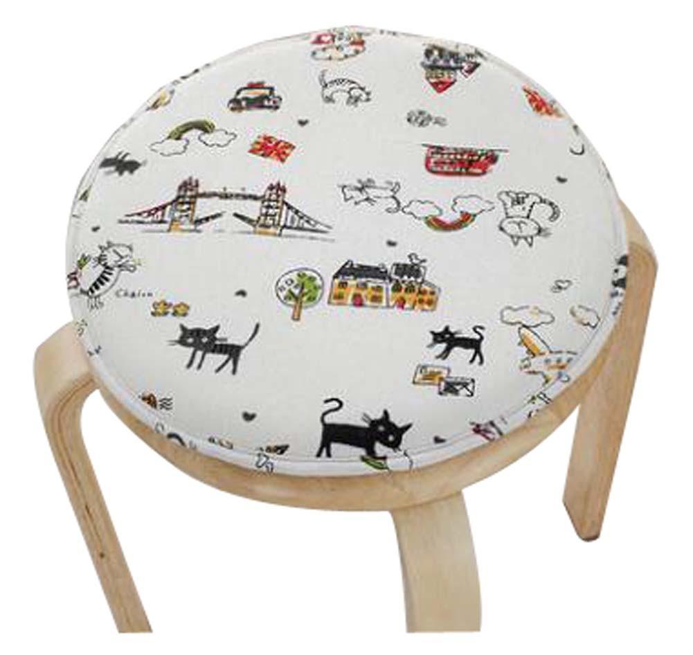 Lovely Round Stool Cushion Warm Sponge Pad Bar Stool Mat