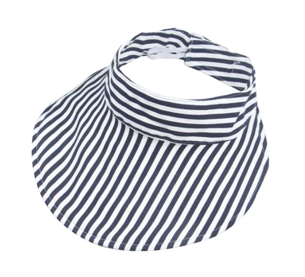 Kids Summer Sun Protection Empty Top Hat Fold-able Hat, Stripe