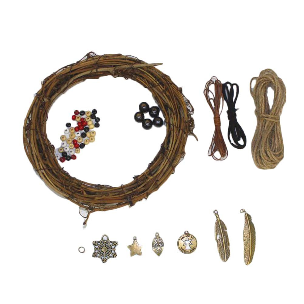 Retro Vine Circle DIY Dream Catcher Craft Kit Handmade  Home Decoration