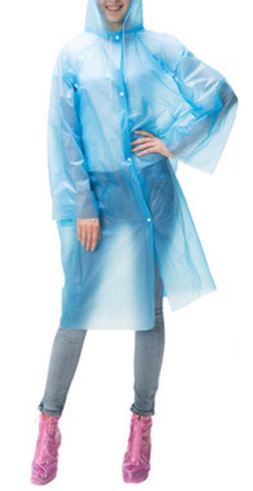 Womens Rain Coats Disposable Rain Ponchos/Set Of 3