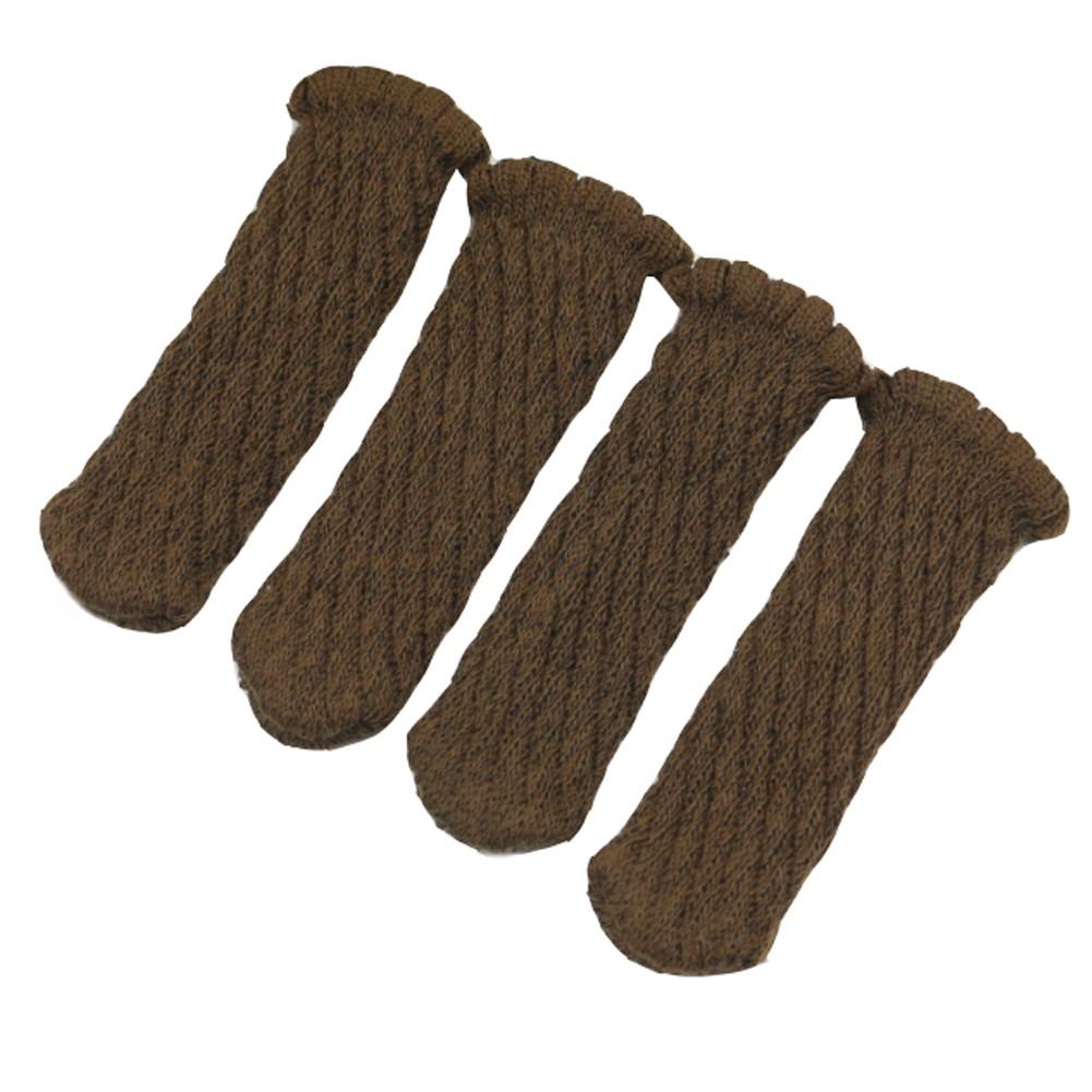 Brown Furniture Socks/ Chair Leg Floor Protector 24 Sets
