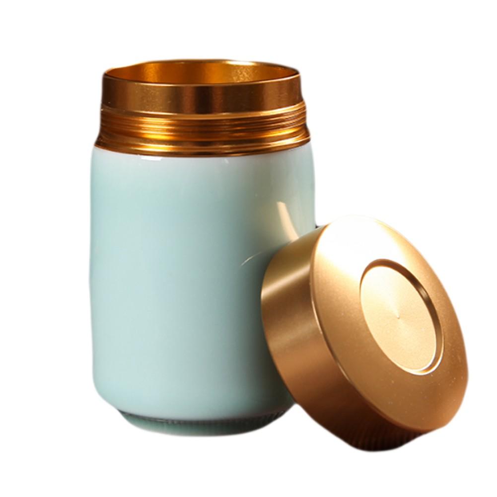 Unusual Tea Coffee Sugar Ceramic Jars with Metal Lids, Perfect Storage Solution