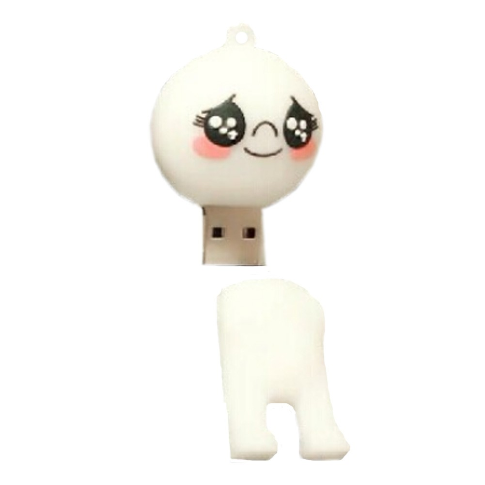 Lovely Touched Face USB2.0 Flash Drive Memory Stick/Memory Disk 16GB White