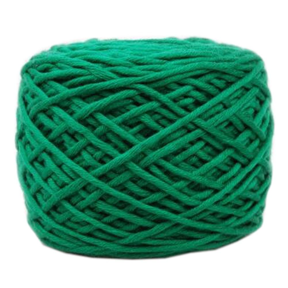 Soft Thick Quick Yarn Premium Yarn Cotton Linter Scarf Yarn, Deep Green
