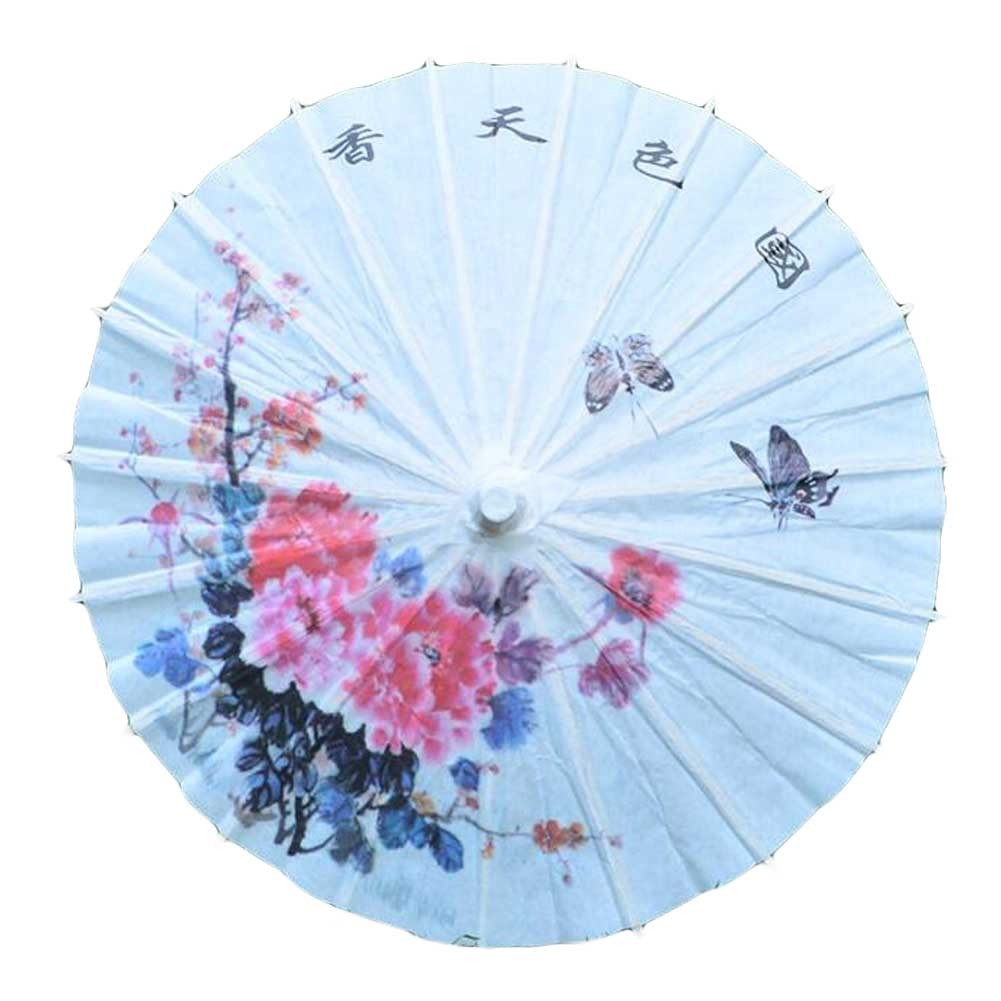 Peony Chinese/Japanese Paper Umbrella for Decorative Use, 11.8 inch