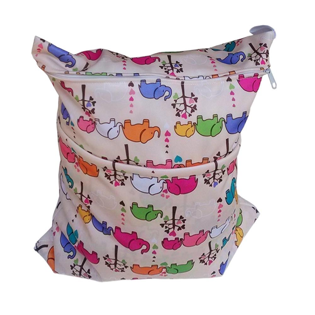 "Elephant Wet Bags Waterproof Diaper Bag Multi-function Nappy Bag -14""*11"""
