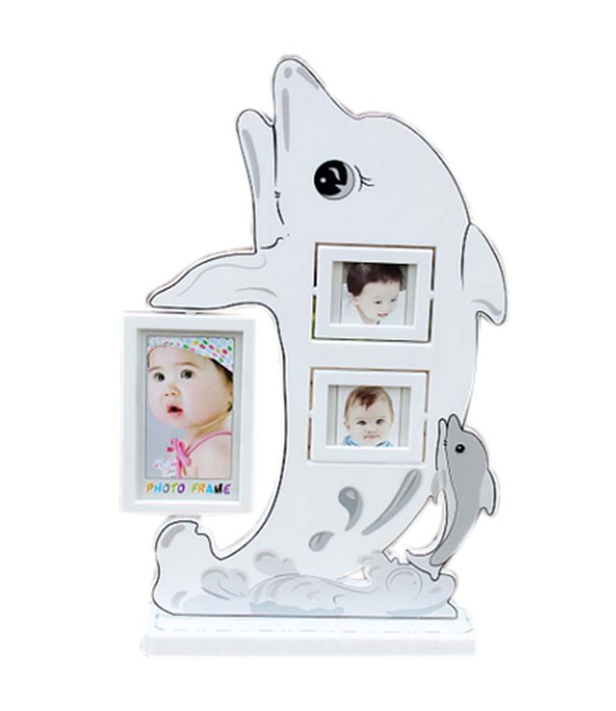5 inch+3 inch Creative Cartoon Swing Sets Children's Photo Frame Dolphin Model
