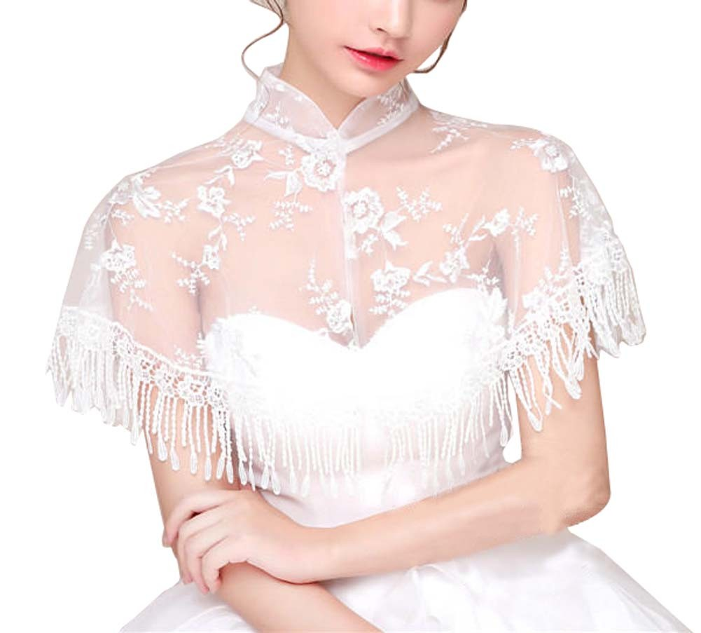 Women's Wedding Dresses Bridal Shawls Lace Scarf Capes, F