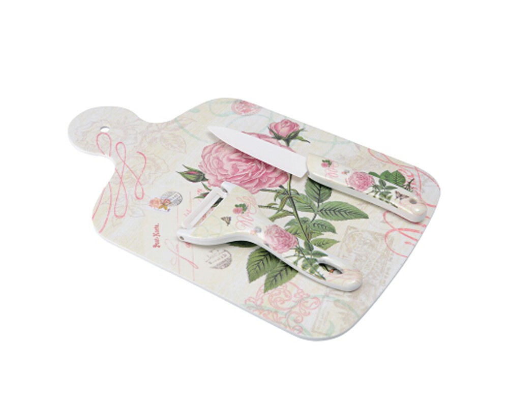 Multipurpose Health Cutting Board Flexible Chopping Board Set Rose