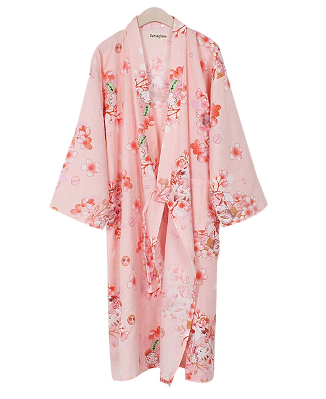 Floral Cotton Pajamas Sleeping Sweat Khan Steamed Clothing Loose Pajamas Yukata