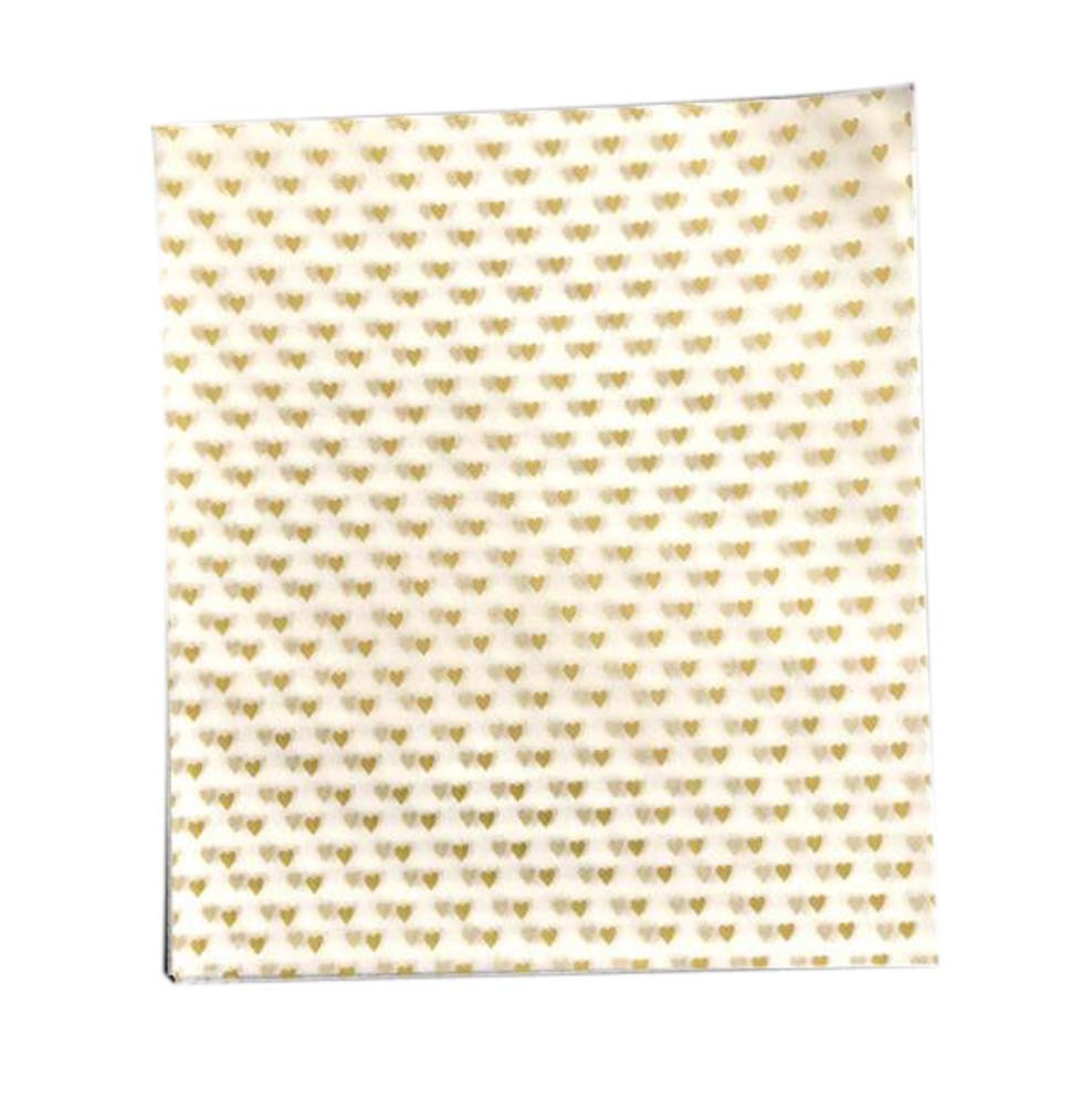 Set of 50 Golden Love Pattern Wax Paper Greaseproof Baking Paper