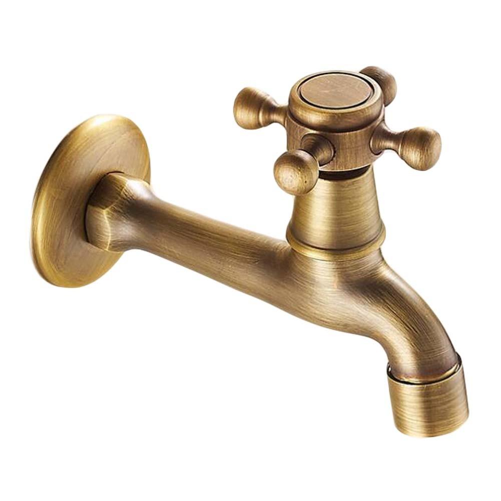 [Spigot]Lengthen Brass Antique Faucet Mop Pool Faucet Wall Faucet Kitchen/Garden