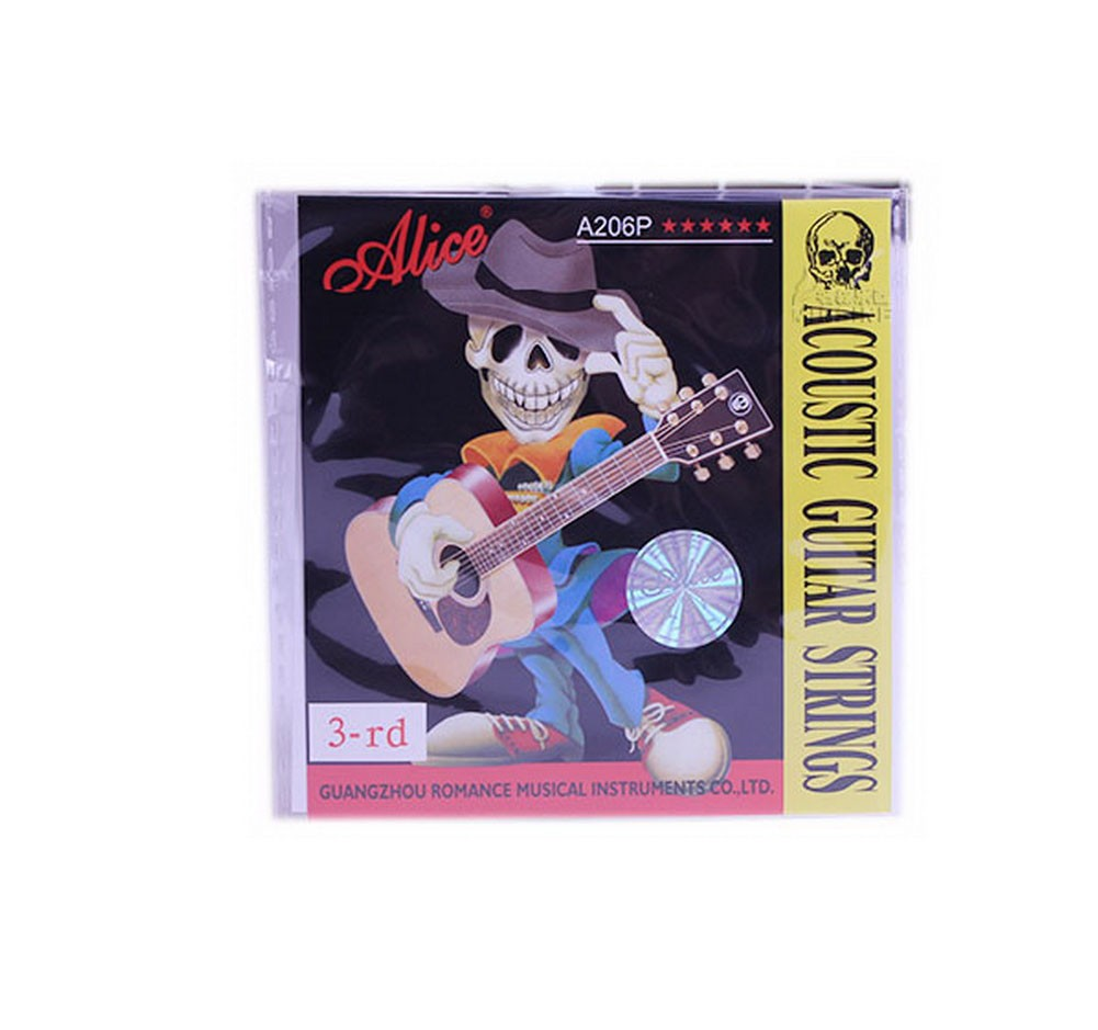 Set of 5 Single Acoustic Guitar Strings, G-3rd Coated Copper Alloy Strings