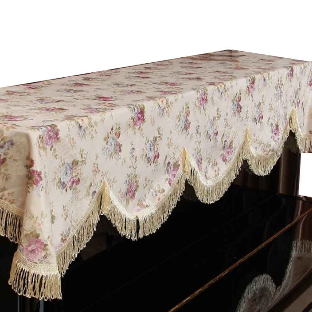 Simple Cotton Floral Dustproof Piano Cloth Piano Cover Upright Piano Dust Cover