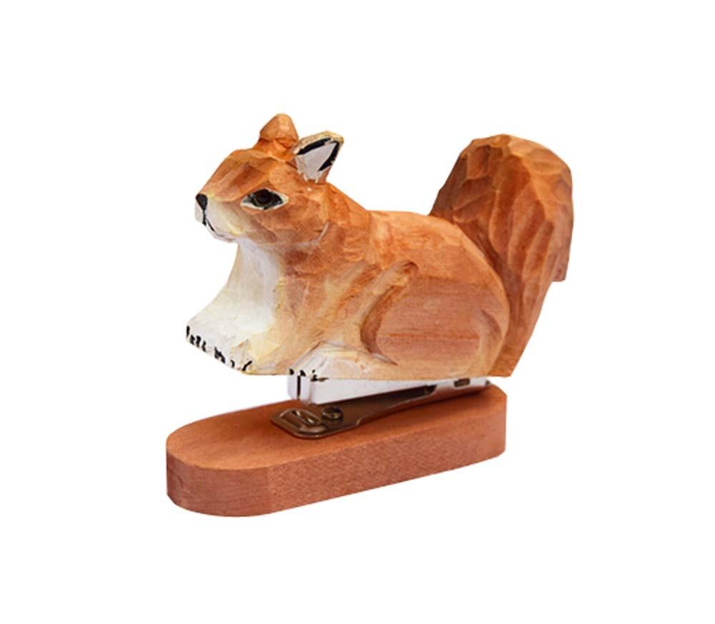1 Piece Creative Animals Mini Portable Desktop Stapler, Squirrel