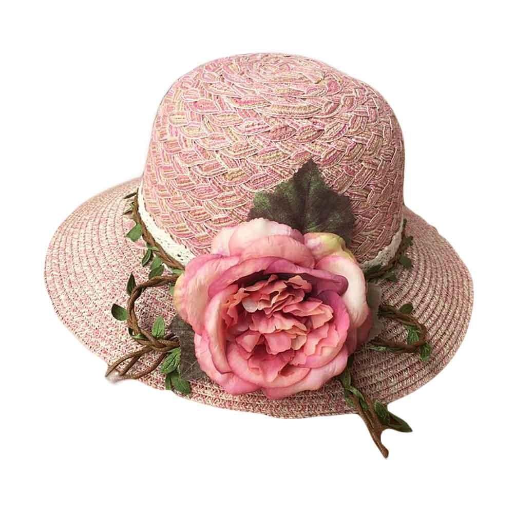 Holliday Big Flower Beach Hat Summer Foldable Sun Hat Straw Hats for Women