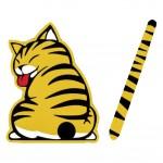 Car Auto Body Sticker Funny Cat Tail Rear Windshield Window Wiper Stickers