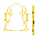 Lovely Dog Wiper Sticker Dog Windshield Wiper for Rear Car Window - Yellow