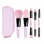 Portable Makeup Brushes 5 Pieces Make Up Set Foundation Cosmetic Brush Tool Pink