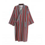 Kimono Men's / Women's Spa Robe Japanese Stype Bathrobe/Pajams-Red Stripes