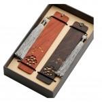 Handmade Natural Wooden Bookmark Classical Pattern Bookmarks Set