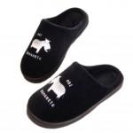 Slippers  Floor Slippers Family Cotton Warm Slippers-Zebra Black