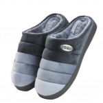 Slippers Velvet Mules Family Non-slip Cotton Warm Slippers-Gray