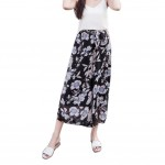 Printing Design Loose Fitting Pants Wide Leg Trousers Slacks for Women, #04