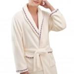 Casual Pajama Set Warm Sleepwear Men/Lovers Flannel Nightgown XX-large-A2