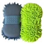 Set of 2 Scratch-Free Wash Mitt Auto Detailing Hand Car Wash Mitt Random Color