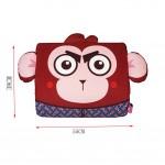 Cartoon Monkey Breathable Lumbar Support/Back Cushion Memory Foam, Mahogany