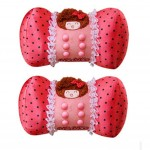 Set of 2 Female Favourite Car Neck pillow/Chiropractic Neck Pillow (Pink Memory)