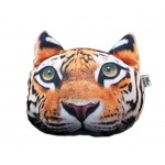 3D Cute Pet Dogs and Cats Face Head Pillow, Tiger