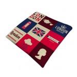 British Style Cotton Square Seasons Car Seat Cushions, Lattice