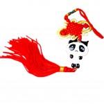 Creative Decoration Chinese Knot Tassel Panda Shaped Hang Decor for Car, G