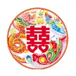 40 Pieces Of Rooms, Cars, Wedding Stickers Decoration, Chinese Color Pattern