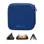 DVD Storage 32 Capacity CD / DVD Wallets Refinement CD Holder CD Case Blue