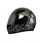 "Matte Black Motorcycle Street Bike Full Face Helmet (XL, 22 4/5"" - 23 3/5"")"