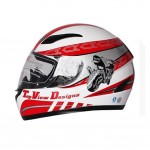 """Cool Speed Motorcycle Helmet Street Bike Full Face Helmet (XL,23""""-24"""")"""