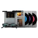 Auto Accessories DVD/CD Storage CD Visor DVD Wallet CD/DVD Holder Gray