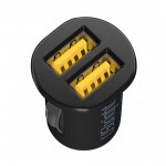 Universal Auto Charger--Noctilucent Dual USB Car Charger (Cable Not Included)