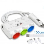 Universal Auto Charger-Dual USB Car Charger (100cm Cable Included)-Power Convert