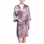 Salon Client Gown Upscale Robes Beauty Salon Smock for Clients, Maple Leaves
