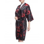 Salon Client Gown Upscale Robes Beauty Salon Smock for Clients, Red Rose