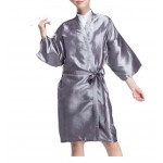 Salon Client Gown Upscale Robes Beauty Salon Smock for Clients, Silver