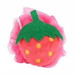 4 Pieces Lovely Strawberry Soft Bath Sponge/Child Body Sponge(Diameter:10 cm)